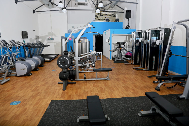 Photo of gym equipment at the Pelican Centre gym