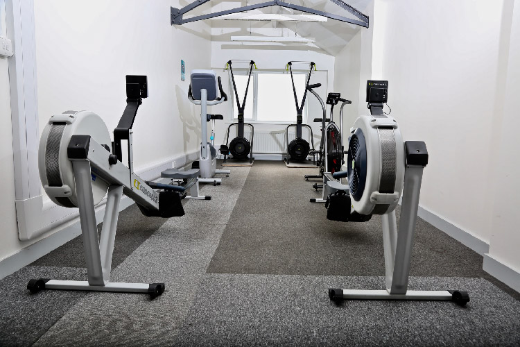 Photo of the inside of the gym, at the Pelican Centre